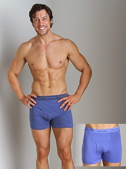 Calvin Klein Cotton Stretch 2 Pack Trunk Nuvo & Columbia Blue