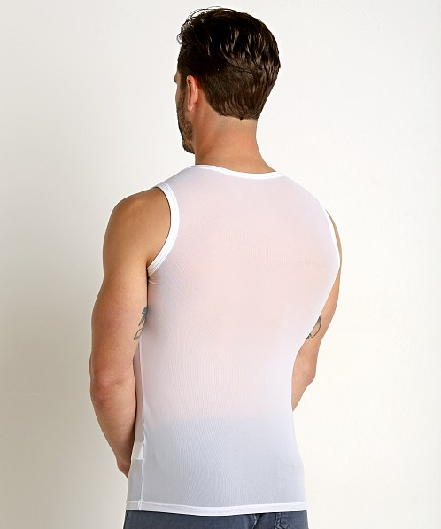 Private Structure Intima Mesh Nylon Muscle Shirt White