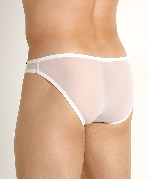 Private Structure Intima Mesh Nylon Low Rise Brief White
