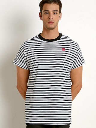 G-Star RC Collyde Stripe T-Shirt White/Dk Black