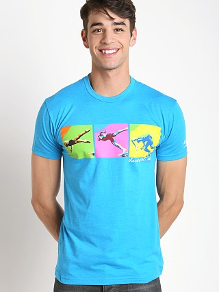 Speedo Male Start Art Tee Turquoise Print