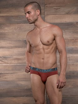 C-IN2 Pop Colors Lo No Show Brief Russet Rust