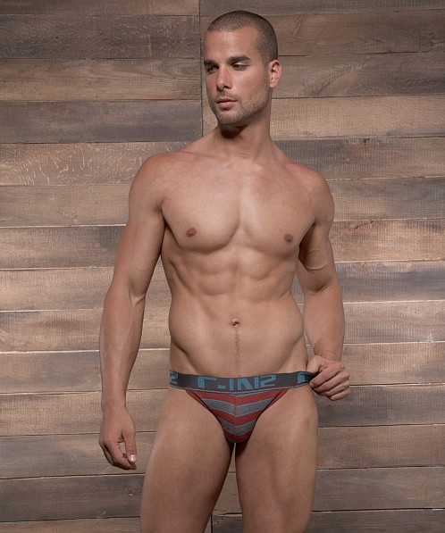 C-IN2 Pop Stripes Street Jock Russet Rust