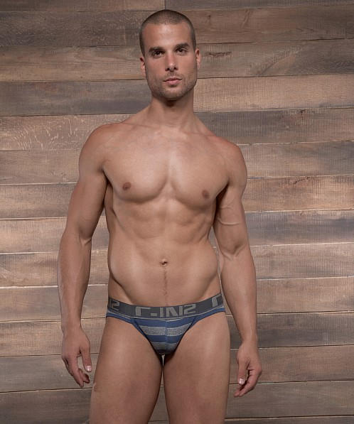 C-IN2 Pop Stripes Sport Brief Moony Blue
