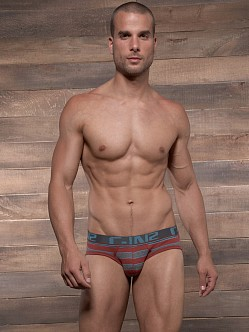 C-IN2 Pop Stripes Lo No Show Brief Russet Rust