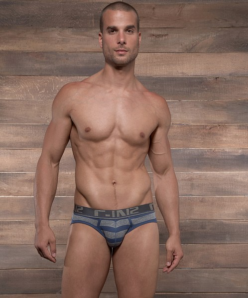 C-IN2 Pop Stripes Lo No Show Brief Moony Blue