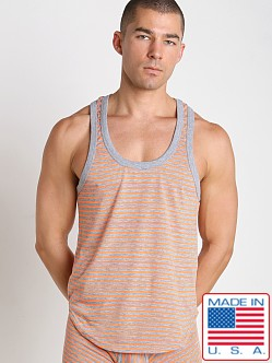 Pistol Pete Nuvo Racer Back Tank Top Orange