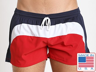 Pistol Pete Tristar Swim Short Red/White/Blue