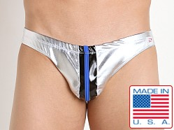 Pistol Pete Metallica Swim Brief Silver/Black