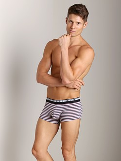 Hugo Boss Innovation 3 Striped Trunk Burgundy