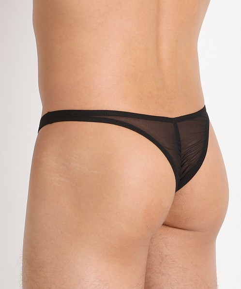 Joe Snyder MaxiBulge C-Ring Capri Bikini Black Mesh