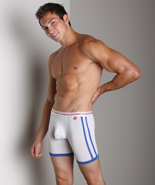 Andrew Christian Almost Naked Sports Boxer White