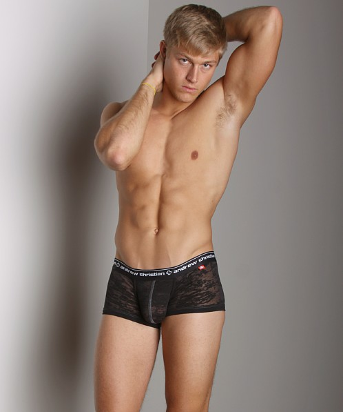 Andrew Christian Burnout Boxer Black