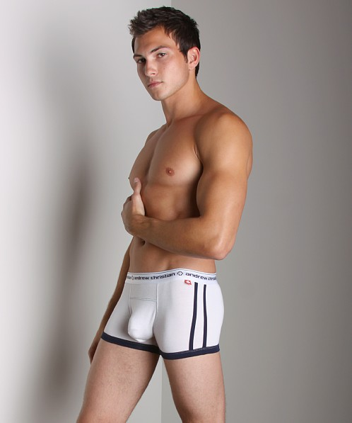 Andrew Christian Almost Naked Hip Boxer White
