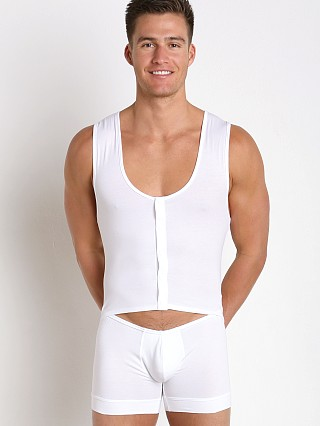 Complete the look: Modus Vivendi Hole Bodysuit Singlet White