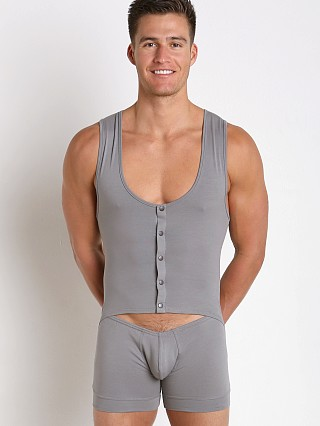 Complete the look: Modus Vivendi Hole Bodysuit Singlet Grey