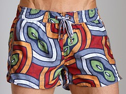 Diesel Bantu Coralrif Limited Edition Swim Shorts Red
