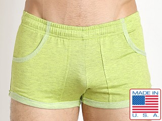 N2N Bodywear Gym Boy Slim Short Short Lime