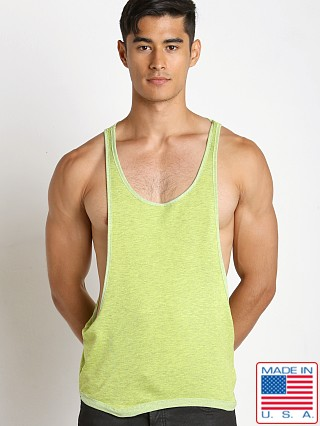 N2N Bodywear Gym Boy Slim String Tank Lime
