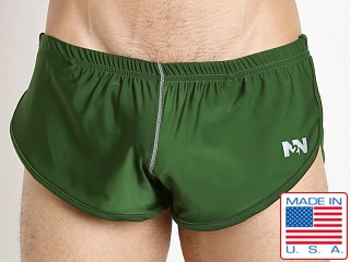N2N Bodywear Tritech Split Short Green