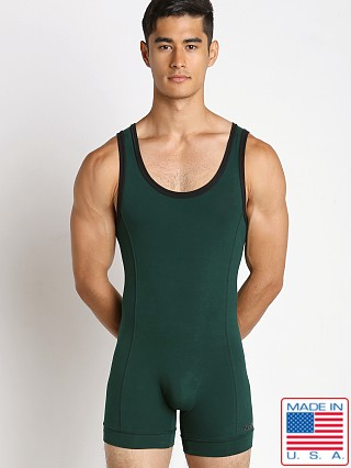 N2N Bodywear Cotton Sport Wrestler Hunter Green