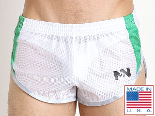 N2N Bodywear Throwback Mesh Split Short White
