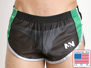 N2N Bodywear Throwback Mesh Split Short Black