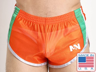 N2N Bodywear Throwback Mesh Split Short Orange