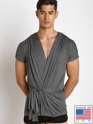 N2N Bodywear Lounge Robe Charcoal