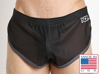 N2N Bodywear Euro Split Short Black