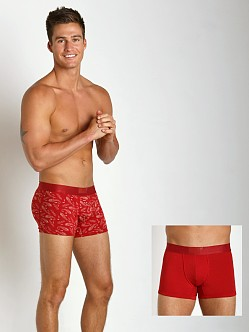 Levi's Underwear 200 Neats Series Trunks Two-Pack Red Bandana
