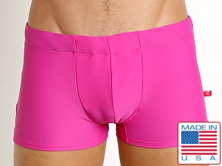 Go Softwear Tropical Square-Cut C-Ring Swim Trunk Pink