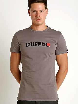 Cell Block 13 Original Logo Crew Neck Tee Shirt Grey