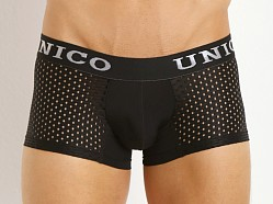 Mundo Unico Perforated Pattern Mesh Trunk Black