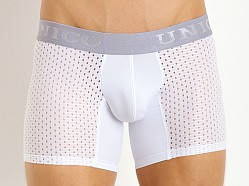 Mundo Unico Perforated Pattern Mesh Boxer White