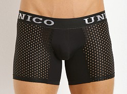 Mundo Unico Perforated Pattern Mesh Boxer Black