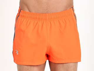 Under Armour Launch Side Split Running Short Fire Red