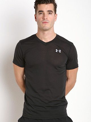 Under Armour Streaker Fitted V-Neck T-Shirt Black