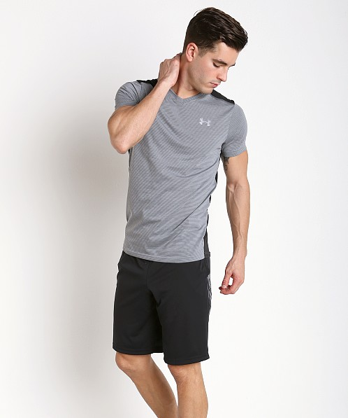 Under Armour Streaker Fitted V-Neck T-Shirt True Grey Heather