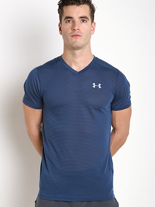Under Armour Streaker Fitted V-Neck T-Shirt Blackout Navy