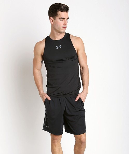 Under Armour Baseline Fitted Performance Tank Top Black