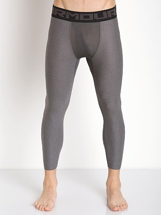 Model in carbon heather Under Armour Heatgear 2.0 3/4 Compression Legging