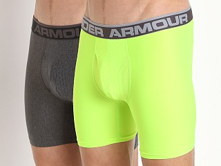 "Under Armour ""O"" Series 6"" Boxerjock 2 Pack Heather/Hyper Green"