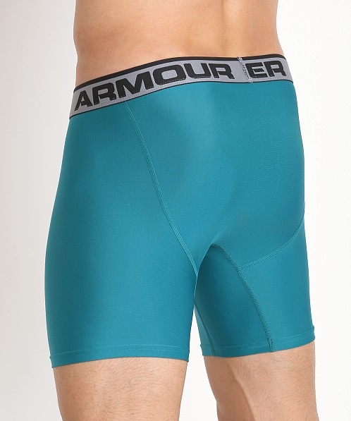 "Under Armour ""O"" Series 6"" Boxerjock 2 Pack Midnight/Turquoise"