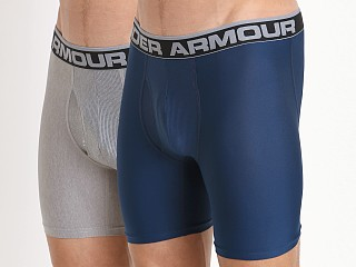 "Under Armour ""O"" Series 6"" Boxerjock 2 Pack Navy/Heather"