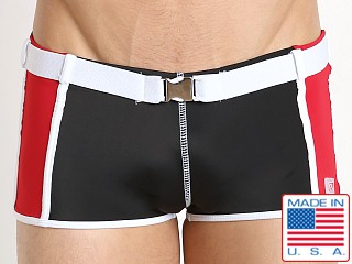 Pistol Pete Primetime Belted Swim Trunk Black