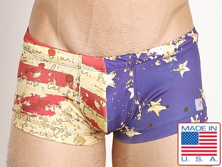 Pistol Pete Liberty Swim Trunk Flag Print