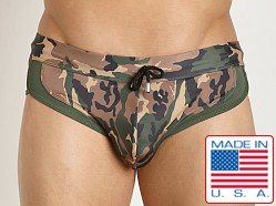 Pistol Pete Combat Swim Brief Olive