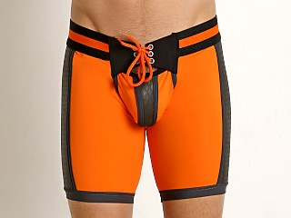 Cell Block 13 Gridiron Neoprene Panel Backless Short Orange