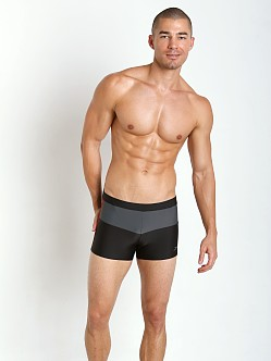 Speedo Long Bay Square Leg Black